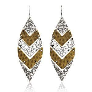 BOGO! Filigree Leaf Earrings Gold & Silver Boho